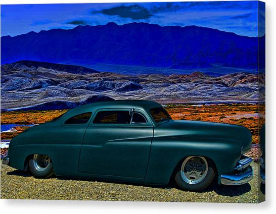 Sleds Canvas Print - 1950 Mercury Low Rider  by Tim McCullough