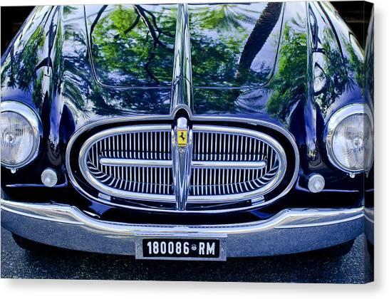 Front End Canvas Print - 1952 Ferrari 212 Vignale Front End by Jill Reger