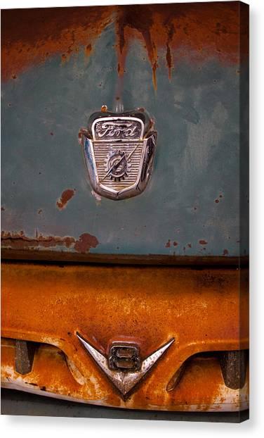 Dump Trucks Canvas Print - 1953 Ford Dump Truck by David Patterson