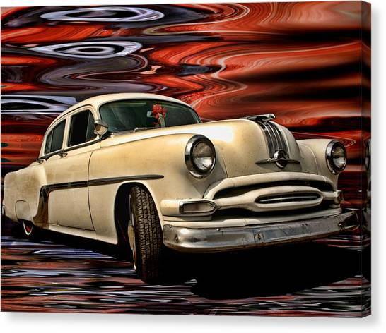Sleds Canvas Print - 1954 Pontiac Chieftain Eight by Tim McCullough