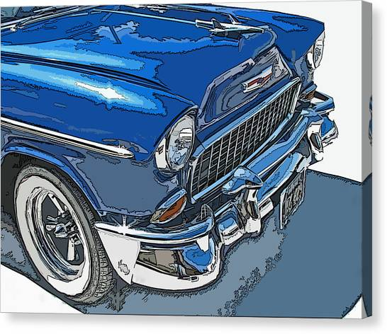 1955 Chevy Bel Air Front Study Canvas Print