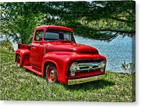 1956 Ford F100 Pickup Truck Canvas Print