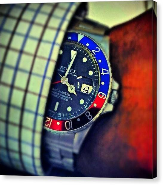 Pepsi Canvas Print - 1966 #gmtmaster #rolex #swissmade by Harvey Christian