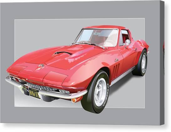 Have Canvas Print - 1967 Chevrolet Corvette by Alain Jamar