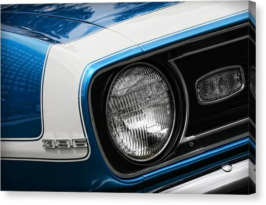 Turn Signals Canvas Print - 1968 Chevy Camaro Ss 396 Coupe by Gordon Dean II