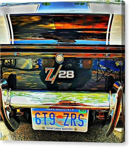 Michigan Canvas Print - #1969 #camaro #z28 #woodwarddreamcruise by Harvey Christian