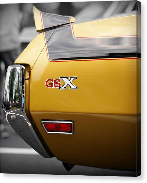 Turn Signals Canvas Print - 1970 Buick Gsx by Gordon Dean II