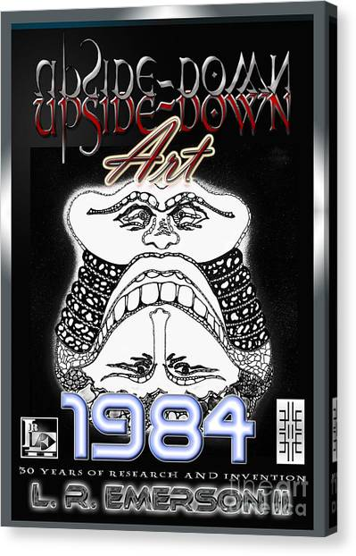 Leon Russell Canvas Print - 1984 Commemorative Poster From L R Emerson II Lead Upside Down Artist by L R Emerson II