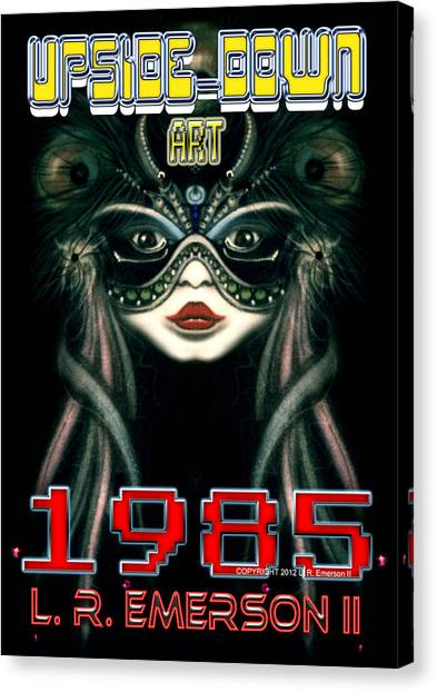 Leon Russell Canvas Print - 1985 Upside Down Art Or Masg Art By L R Emerson II by L R Emerson II