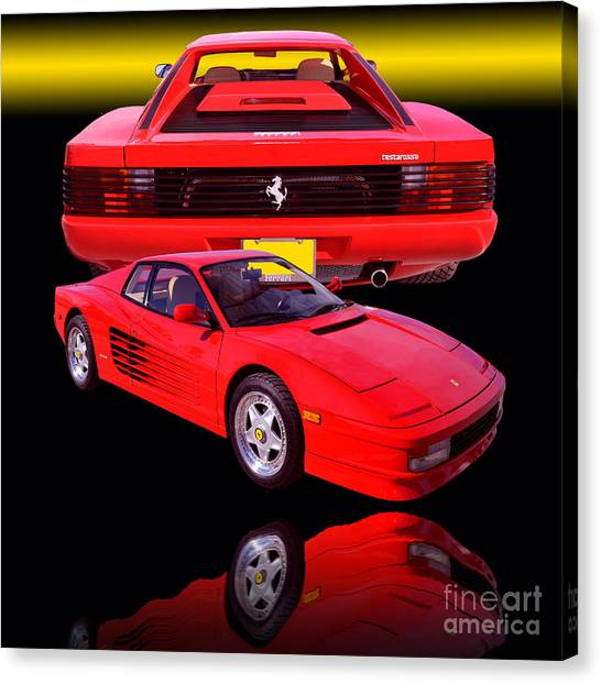 1990 Ferrari Testarossa Canvas Print