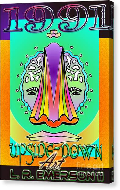 Leon Russell Canvas Print - 1991 Upside Down Art by L R Emerson II