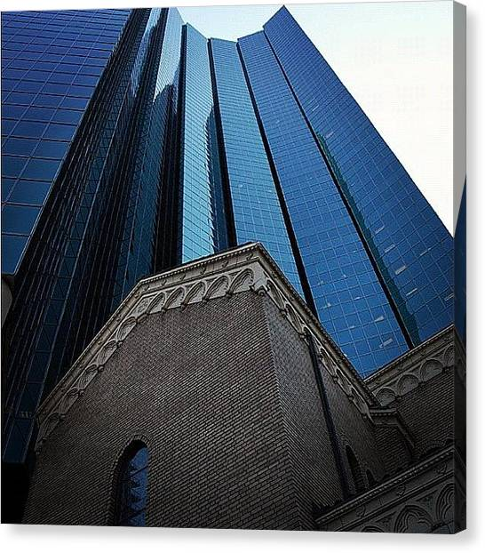Wolves Canvas Print - 1999 Broadway And The Church Of The by Wolf Stumpf