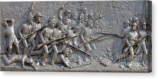 Army Of The Potomac Canvas Print - 1st Minnesota Monument At Gettysburg by Randy Steele