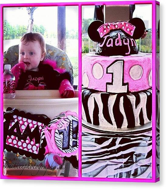 Happy Birthday Canvas Print - #1yearold  #birthday #party by S Smithee