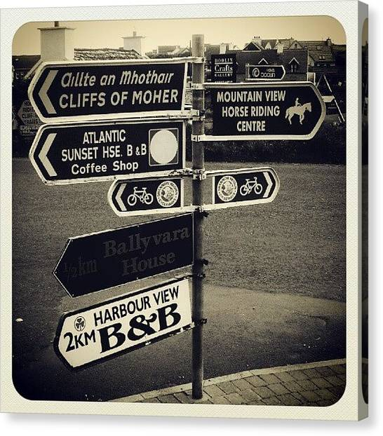Street Signs Canvas Print -  by Ben Smith