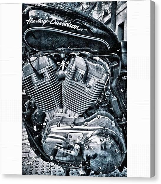 Harley Davidson Canvas Print -  by Carlos De la Cruz