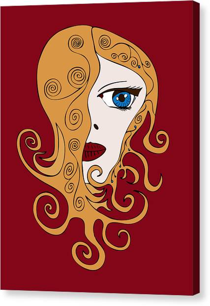 Big Brother Canvas Print - A Woman by Frank Tschakert