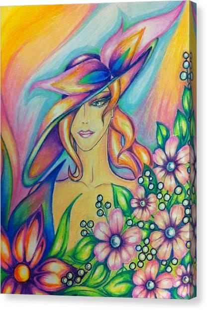 Abstract  Drawings Canvas Print by Natasha Russu