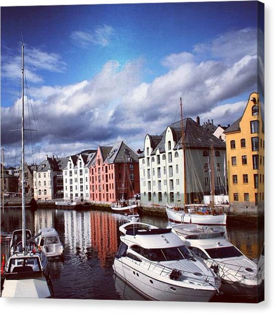 Beaches Canvas Print - Alesund - Norway by Luisa Azzolini