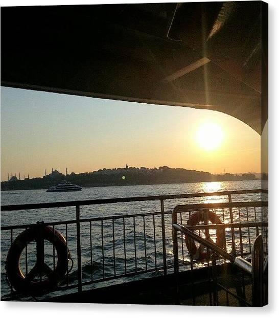 Ocean Sunrises Canvas Print - #all_shots #instago #nice #street by Taner Karadogan