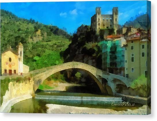 Alta Via Dei Monti Liguri - Liguria Mountains High Way Trek - Hohenweg Der Ligurischen Berge Canvas Print