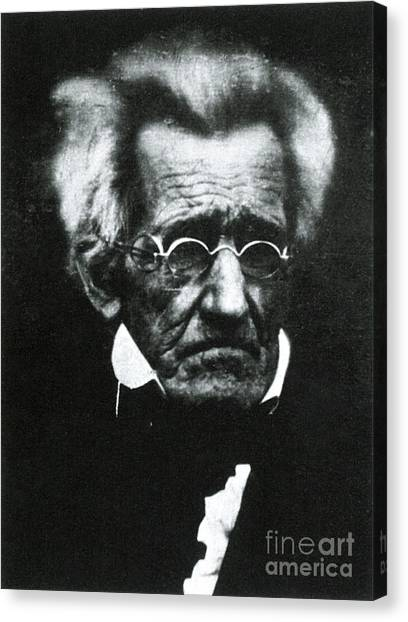 Democratic Politicians Canvas Print - Andrew Jackson, 7th American President by Photo Researchers