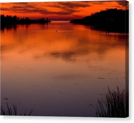 Lake Sunsets Canvas Print - Arcadia Lake At Sunset by Twenty Two North Photography