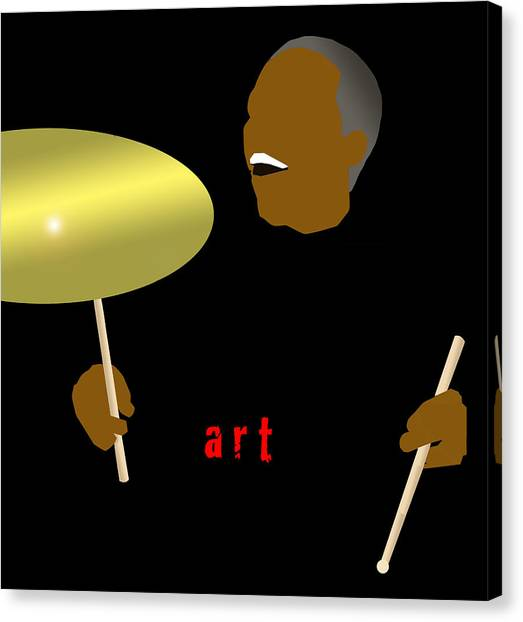 Art Blakey Canvas Print by Victor Bailey