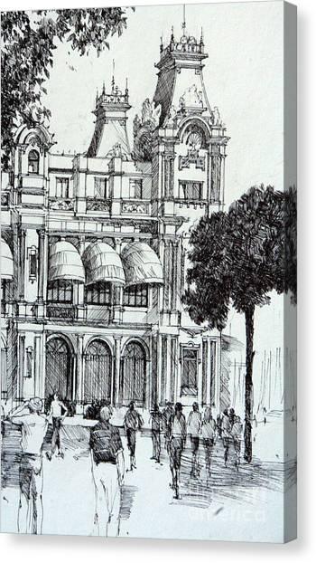 Barcelona Canvas Print by Natalia Eremeyeva Duarte