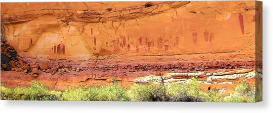 Barrier Canyon Style Rock Art Canvas Print