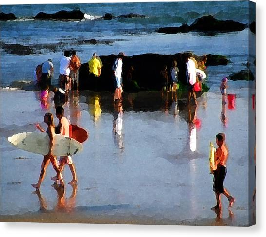 Beach Talk Canvas Print by Ron Regalado