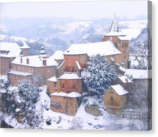 Bozouls Winter Canvas Print