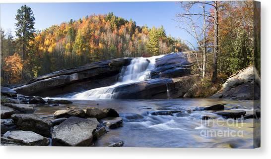 Bridal Canvas Print - Bridal Veil Falls In Dupont State Park Nc by Dustin K Ryan