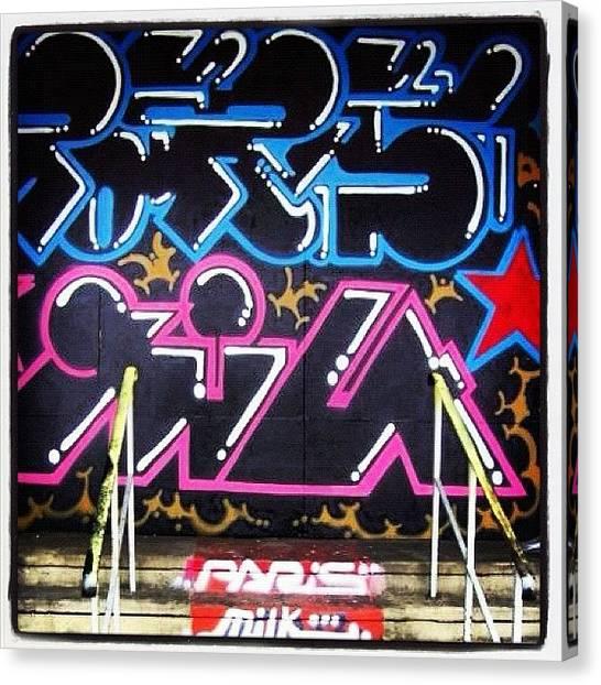 Milk Canvas Print - #bristolgraffiti Was In #stokescroft by Nigel Brown