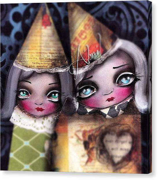 Witches Canvas Print - By #abrilandrade by Abril Andrade Griffith