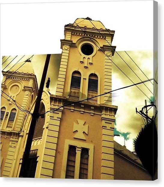 Angle Canvas Print - Church by OpɹᏌnpǝ 