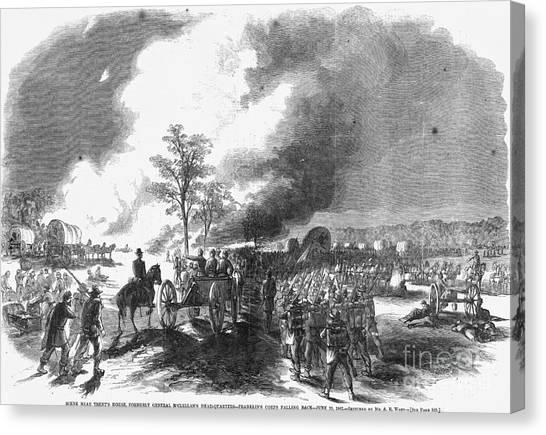Army Of The Potomac Canvas Print - Civil War: 7 Days Battles by Granger