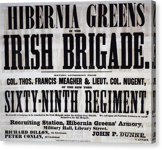 Philadelphia Union Canvas Print - Civil War: Recruiting by Granger