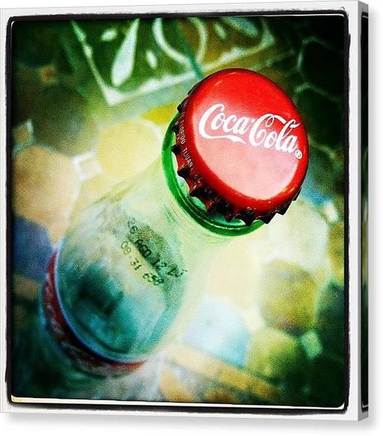 Soda Canvas Print - Coca Cola by Torgeir Ensrud