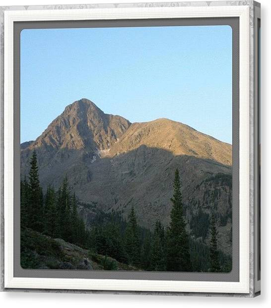 Rocky Mountains Canvas Print - #colorado #coloradical #hiking #14ers by James Sibert