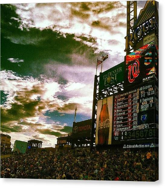 Baseball Teams Canvas Print - Coors Field #myroxpix by The Ambs