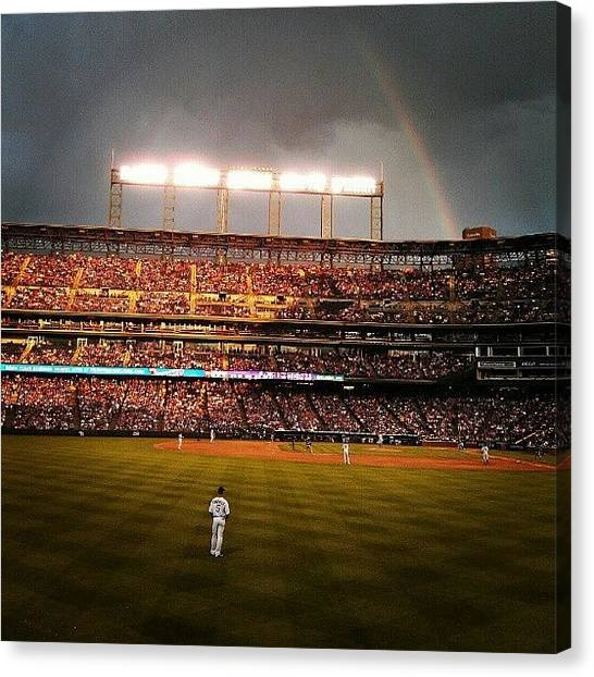 Baseball Teams Canvas Print - Coors Field Rainbow by The Ambs