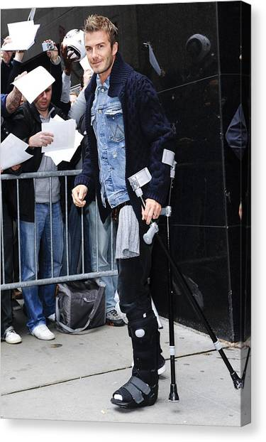 David Beckham Canvas Print - David Beckham, Visits Good Morning by Everett
