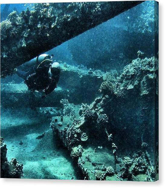 Scuba Diving Canvas Print - Diving Mala by Jody Robinson