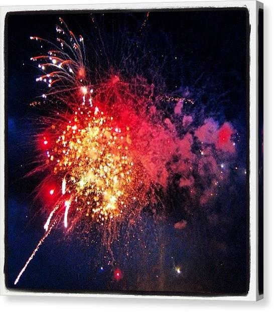 Fireworks Canvas Print - #fireworks #newjersey #summer #mtcarmel by Susan Neufeld