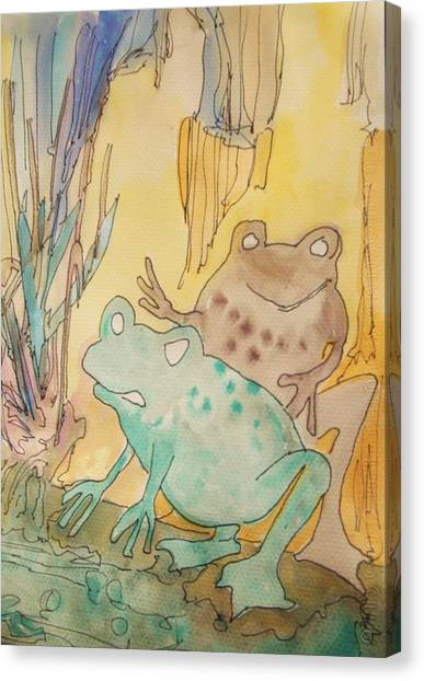 2 Frogs Canvas Print by James Christiansen