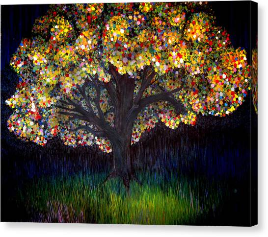 Gumball Tree 0001 Canvas Print by Monica Furlow