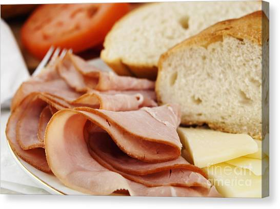 Ham Canvas Print - Ham Lunch Spread by Blink Images