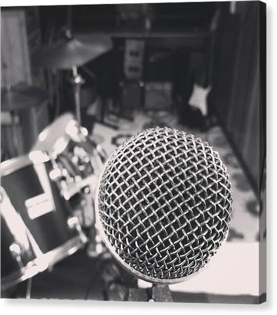 Microphones Canvas Print - #ig #igers #igitaly #italy #picoftheday by Nicolo Carollo