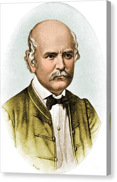 Hand Washing Canvas Print - Ignaz Semmelweis, Hungarian by Science Source